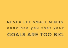 small minds big goals